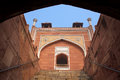 Humayun s tomb seen through entryway delhi india it was the first garden on the indian subcontinent Stock Image