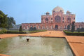 Humayun s tomb with water pool delhi india in front of it it was the first garden on the indian subcontinent Royalty Free Stock Photography