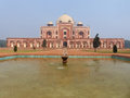 Humayun s tomb with water pool in front of it delhi india was the first garden on the indian subcontinent Royalty Free Stock Images