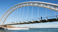 Humber Bay Arch Bridge Royalty Free Stock Photo