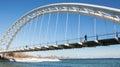 Humber Bay Arch Bridge Royalty Free Stock Photo