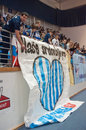 Humenne volleyball fan club Royalty Free Stock Image