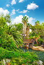 Humid tropical jungle beautiful landscape of tropic Stock Images