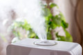 Humidifier in the house. Electronics. Royalty Free Stock Photo