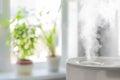 Humidifier spreading steam Royalty Free Stock Photo