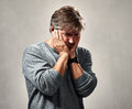 Humiliated sad man