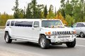 Hummer h novyy urengoy russia august white wedding limousine at the city street Royalty Free Stock Images