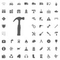 Hummer icon. Construction and Tools vector icons set Royalty Free Stock Photo