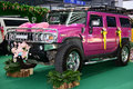 A hummer purple is used to wedding Royalty Free Stock Photography