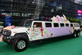 A hummer the stretch which is used to wedding Stock Images