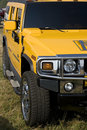 Hummer Yellow Stock Photo