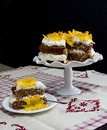 Hummingbird cake delicious homemade pineapple or with cheese frosting cream Royalty Free Stock Photo