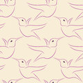 Hummingbird seamless pattern vector illustration of Stock Photography
