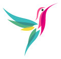 Hummingbird stylized flying vector illustration Stock Image