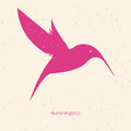 Hummingbirds. Silhouette of birds on a light background. Vector Royalty Free Stock Photo