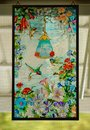 HUMMINGBIRDS STAINED GLASS HANGING