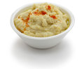 Hummus dip in bowl isolated on white background Royalty Free Stock Image