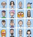 Humor cartoon faces vector collection Royalty Free Stock Photo