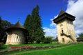 Humor monastery in bucovina moldavian achitecture of exterior at gura humorului village romania Stock Image
