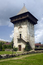 Humor monastery the tower at located in mănăstirea humorului about km north of the town of gura humorului romania it was Royalty Free Stock Photo