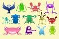Humorous bug illustrations Royalty Free Stock Photo