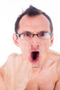 Humorous  grimacing  man Royalty Free Stock Image