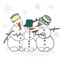 Humorous Winter Snowman Stock Image