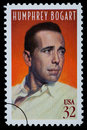 Humphrey Bogart Postage Stamp Royalty Free Stock Photo