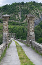 Hunchback Bridge. Bobbio. Emilia-Romagna. Italy. Stock Photo