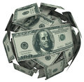 Hunded Dollar Bill Money Ball Cash Currency Royalty Free Stock Photo