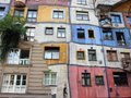 Hundertwasser Colorful City Apartment Building in Vienna Austria Royalty Free Stock Photo