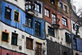Hundertwasser haus in Vienna Royalty Free Stock Images