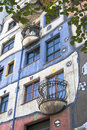 Hundertwasser house in australia s capital vienna Royalty Free Stock Image