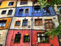 Hundertwasser house the hundertwasserhaus is an apartment in vienna austria Royalty Free Stock Photos