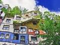 Hundertwasser House in Vienna Royalty Free Stock Photos