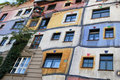 Hundertwasser house of Vienna Stock Image