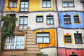 The hundertwasser house in vienna austria Stock Photo