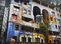 Hundertwasser house the in vienna austria Stock Image