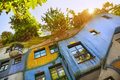 Hundertwasser house the in vienna austria Stock Photography