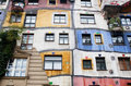 The Hundertwasserhaus is an apartment house Stock Photos