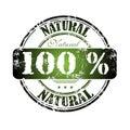 Hundra naturliga en procent Royaltyfria Bilder