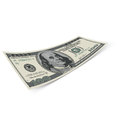Hundred dollar bill banknote on white background money and banking Royalty Free Stock Photo
