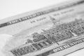Hundred dollar bill macro photography one super Royalty Free Stock Photos