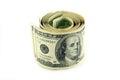 Hundred dollar bills bundle of Royalty Free Stock Image