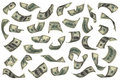 Hundred dollar bills falling Royalty Free Stock Photo