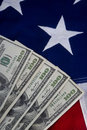 Hundred dollar bills flag Royalty Free Stock Photos