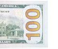 Hundred dollar note detail all on white background Stock Images