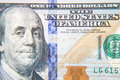 Hundred dollar note detail shot Stock Photography