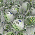 Hundred euro balloons Stock Photography
