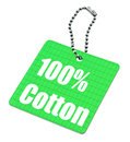 Hundred percent cotton tag Royalty Free Stock Image